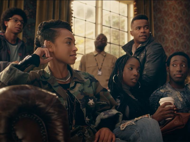 From left to right: Lionel, Sam, Joelle and Reggie / Copyright Netflix / Dear White People