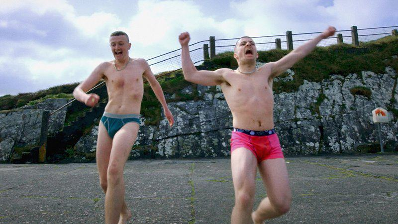 Chris Walley and Alex Murphy as Jock and Conor in The Young Offenders (RTE)